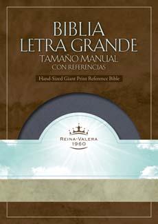 Biblia Letra Grande Manual Caja Color Gris Oscuro