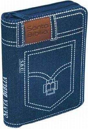 Biblia tamaño manual RVR 1960 - azul