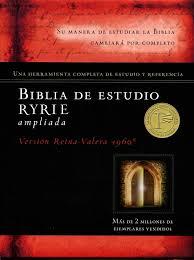 Biblia de Estudio Ryrie Cuero