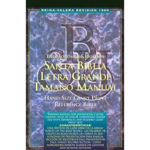 Biblia letra grande manual/T dura/ Indice