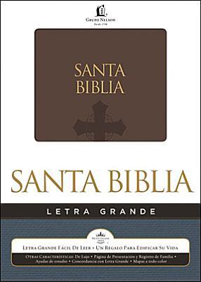 Biblia Letra Grande Piel Italiana Marron