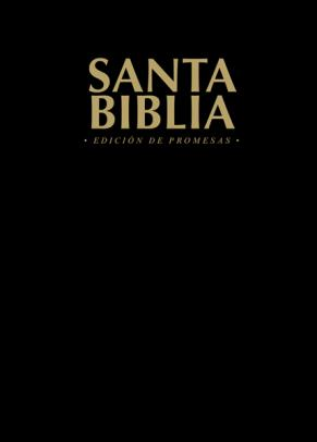 Biblia de Promesas Tapa Rustica Negro