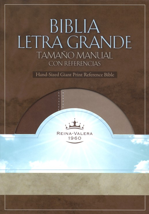 Biblia Letra Grande Tamaño Manual Duo Tone Marron Caja