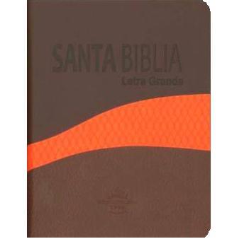 Biblia RVR025 Duo Tone Café-Naranja