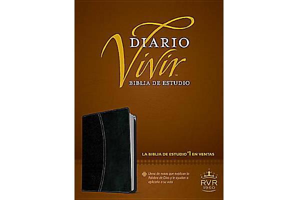Biblia de Estudio Diario Vivir Cuero con indice Negro Caja