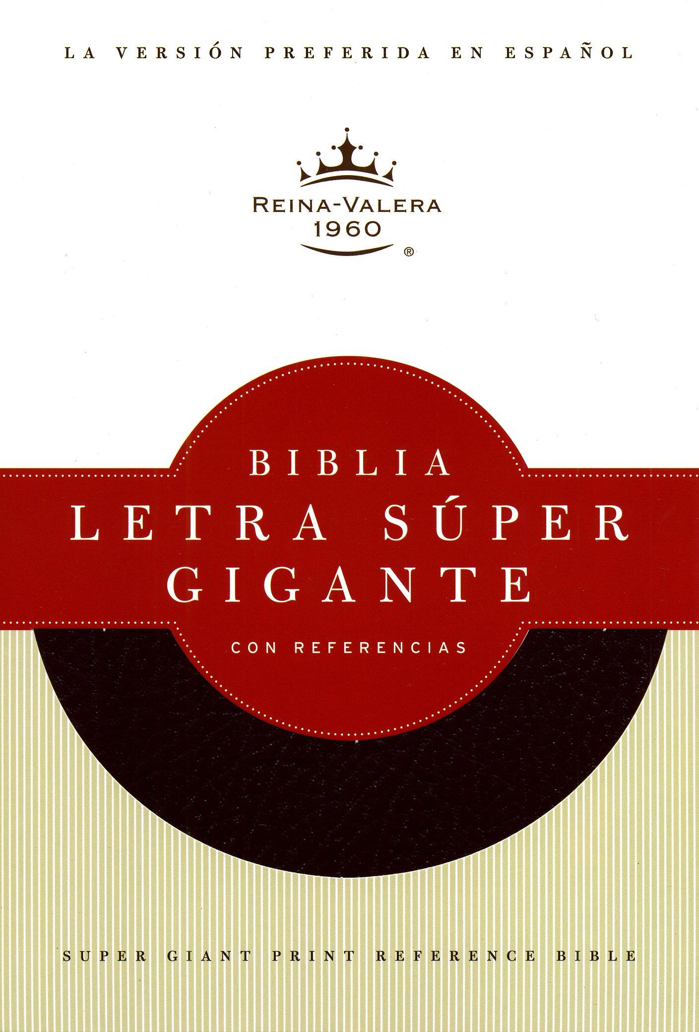 Biblia Reina Valera 1960 letra S�per Gigante con Referencias, negro imitaci�n piel negro de B&H Espanol