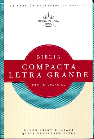Biblia Compacta Letra Grande con Referencia Turquesa