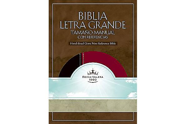 Biblia Letra Grande Tamaño Manual con Referencia Negro y Borravino Caja