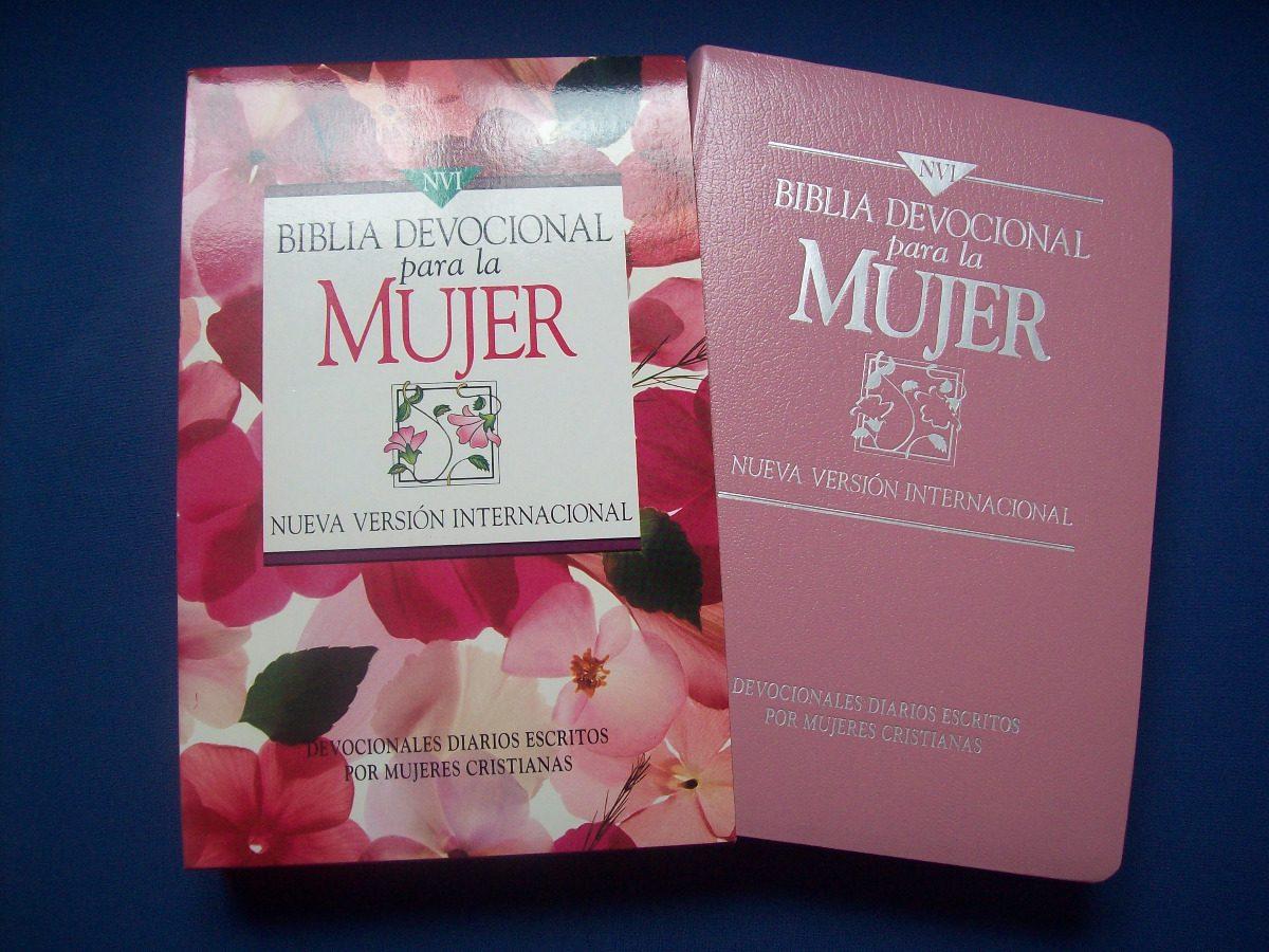 Biblia Devocional para la Mujer Imitacion de cuero Rosado NVI>