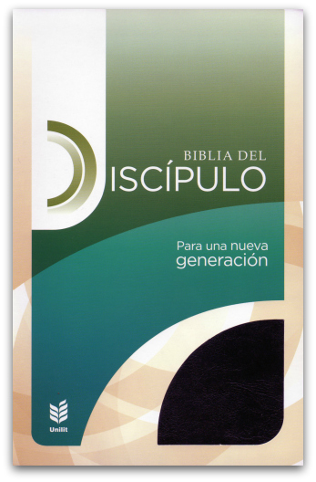Biblia del Discipulo/Imitacion Cuero Negro