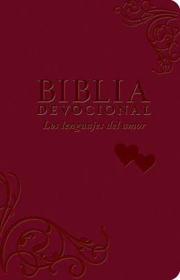 Biblia NTV Devocional Los Lenguajes del Amor/Duotono Rojo