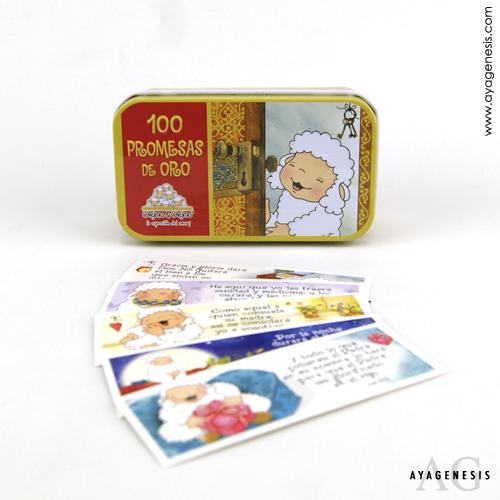 Promesas de Oro Ovejitas/Caja Metalica