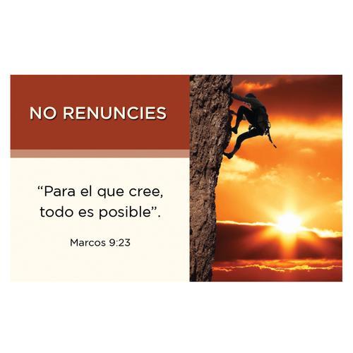 Tarjeta Constructores No renuncies