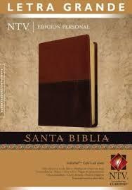 Santa Biblia Nueva Traducción Viviente - Edición Personal, Letra Grande Duo Tono Café.