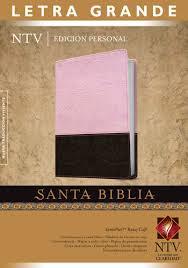 Santa Biblia Nueva Traducción Viviente - Edición Personal, Letra Grande Duo Tono Rosado, Café.