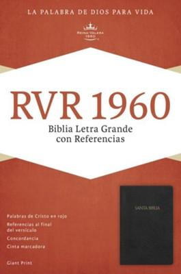 RVR 1960 Biblia Letra Grande con referencia - Negro
