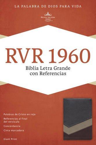 RVR 1960 Biblia Letra Grande con referencia - Marrón