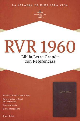 RVR 1960 Biblia Letra Grande con referencia - Borgoña