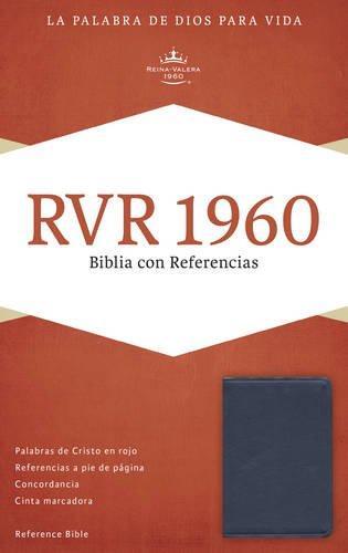 RVR 1960 Biblia con referencia azul/zafiro