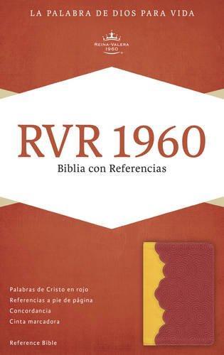 RVR 1960 Biblia con referencia ambar/rojo ladrillo