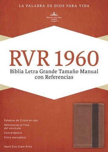 RVR 1960 Biblia Letra Grande tamano manual con referencia cobre