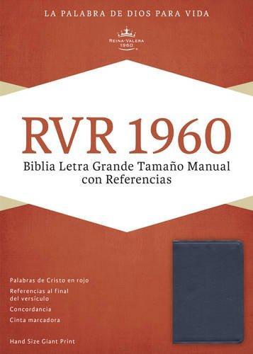 RVR 1960 Biblia Letra Grande tamano manual con referencia azul/zafiro imitacion