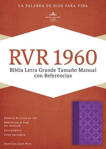 RVR 1960 Biblia Letra Grande tamano manual con referencia violeta