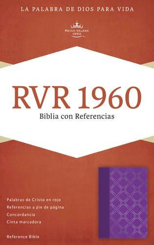 RVR 1960 Biblia con referencia violeta/plateado