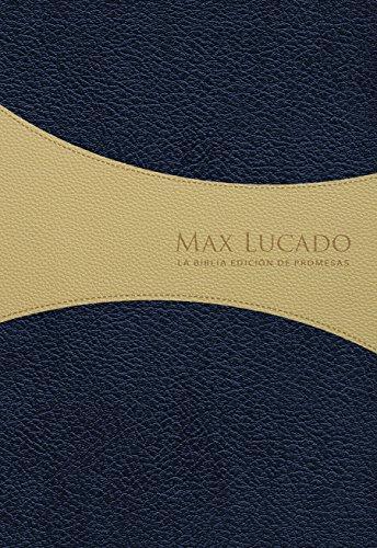 Biblia de Promesas Max Lucado - Edición Hombres - RVR60 azul-crema