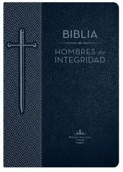 Biblia Hombres de Integridad, Reina-Valera 1960, piel especial, azul