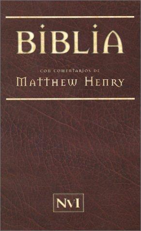 Biblia con comentarios de Mathew Henry NVI