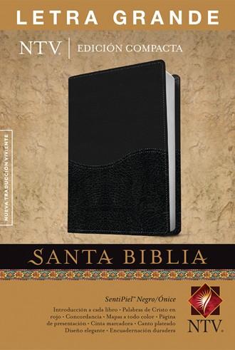 Biblia NTV, Edición compacta letra grande - negro