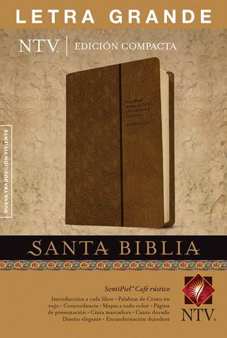 Biblia NTV, Edición compacta letra grande - café