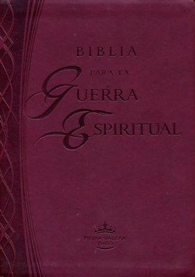 Biblia Reina Valera 1960 para la guerra espiritual Imitación cuero color vino