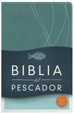 Biblia del Pescador Reina Valera 1960 - Imitación Piel Azul Petróleo