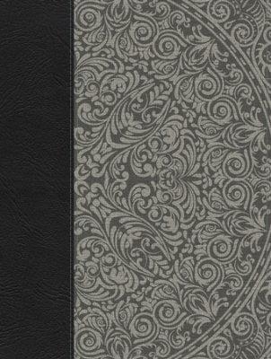 Biblia de Apuntes RVR 1960, Piel Gen. Gris y Tela Impresa Gris de B&H Espanol