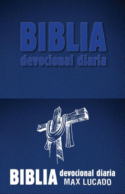 Biblia devocional diaria: Imitación piel - Azúl