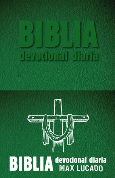 Biblia devocional diaria: Imitación piel - Verde
