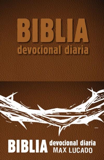 Biblia devocional diaria: Imitación piel - Café