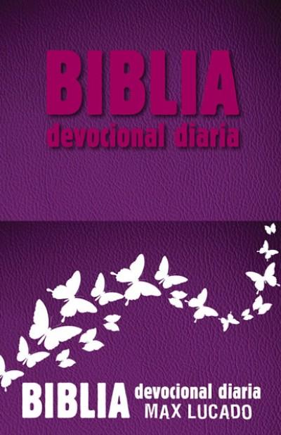 Biblia devocional diaria: Imitación piel - Rosa
