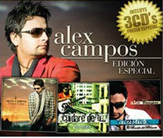 Alex Campos Edición especial paquete premium 3 discos