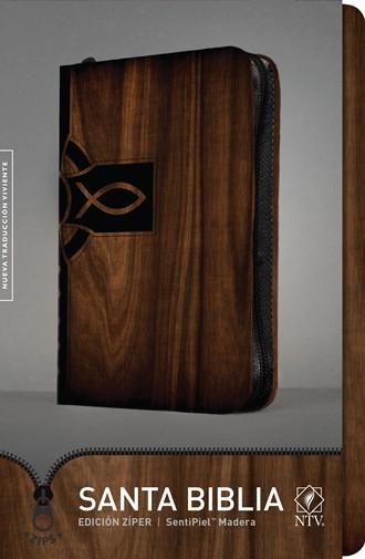 Biblia NTV Ultrafina / cierre-madera
