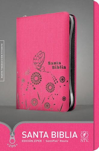 Biblia NTV Ultrafina / cierre-rosado