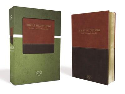 Santa Biblia de Estudio Reina Valera Revisada RVR, Leathersoft, Café Contemporáneo