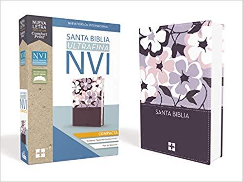Santa Biblia NVI, Ultrafina Compacta, Leathersoft, Flores>