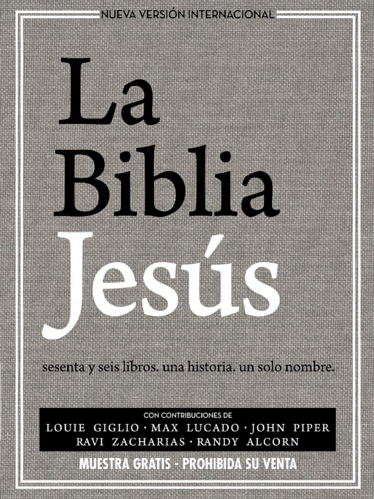 La Biblia Jes�s NVI, Tapa Dura, Tela Gris>