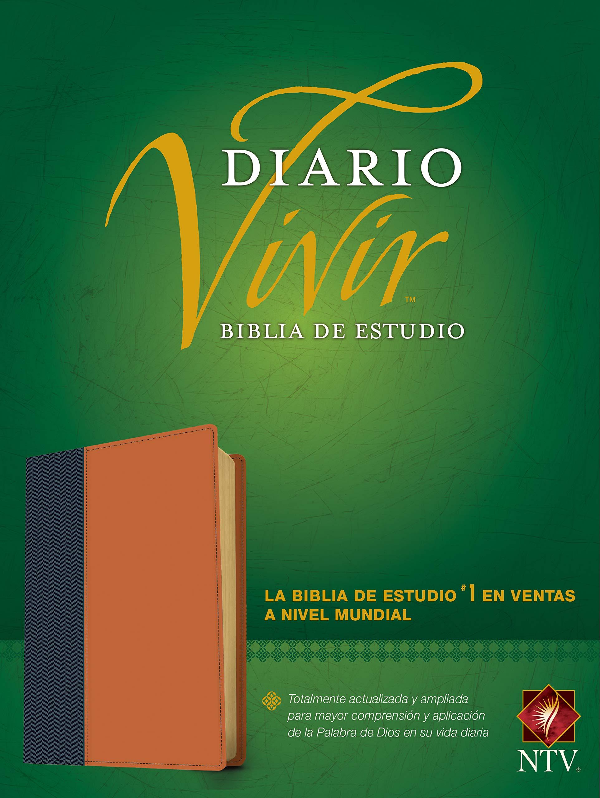 Biblia de estudio del diario vivir NTV (Letra Roja, SentiPiel, Azul/Caf� claro)>