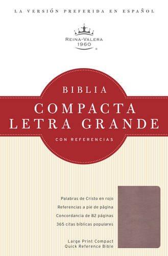 Biblia Compacta Letra Grande Con Referencias (Rosada)>