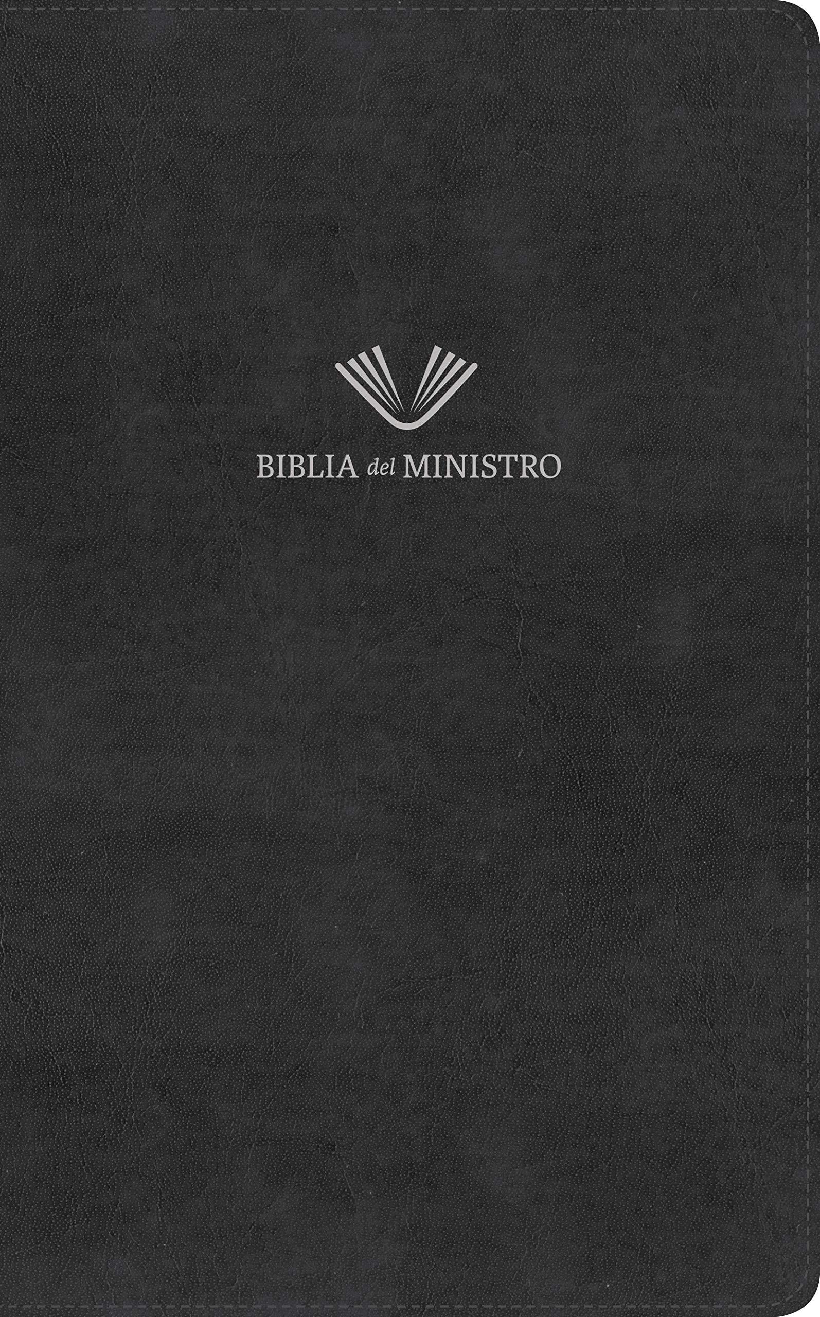 RVR 1960 Biblia del ministro, negro piel fabricada>