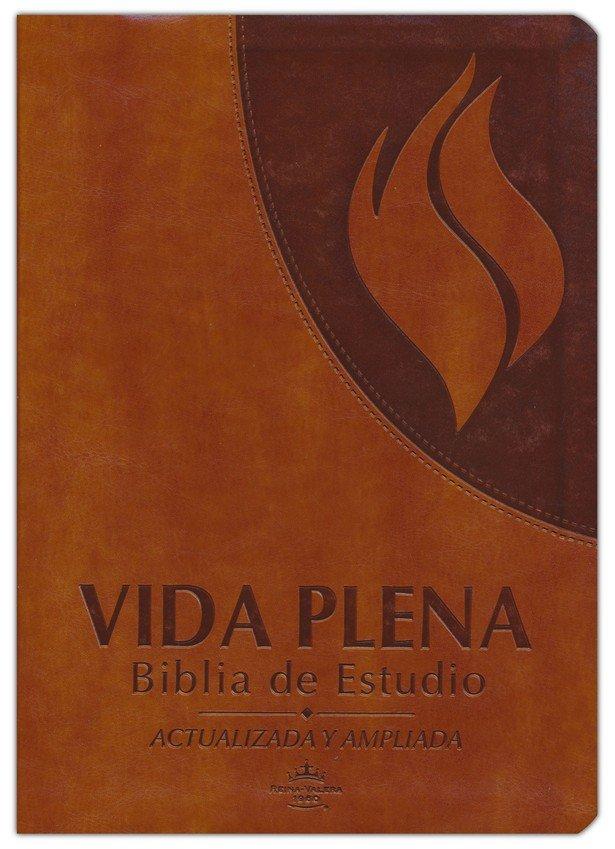 Biblia de Estudio de la Vida Plena Actualizada y Ampliada: Reina Valera 1960 Cuero Caf�>